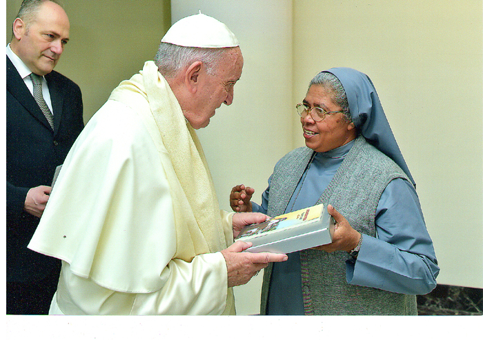 Mother Udaya Meets His Holiness Pope Francis